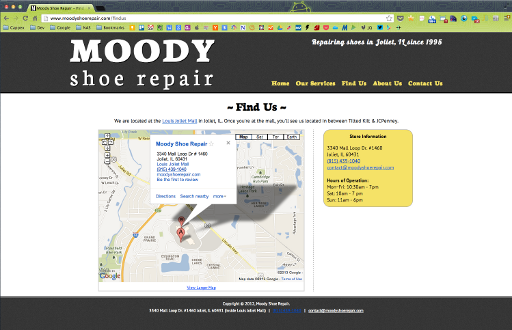 Moody Shoe Repair (old) - Find Us